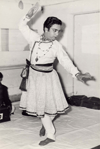 Birju Maharaj, Sapru House, backstage Green Room, February 16, 1969