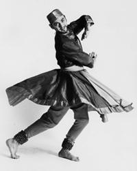 Raja performing palta, photographer Albert Goldman