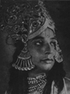 Shambhu Maharaj as Krishna, Natwar.  Photo from Mohan Khokar's article in the November 7, 1971 Illustrated Weekly of India