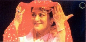 "Padmashri Rita Ganguly in the production ""Begum Akhtar"""