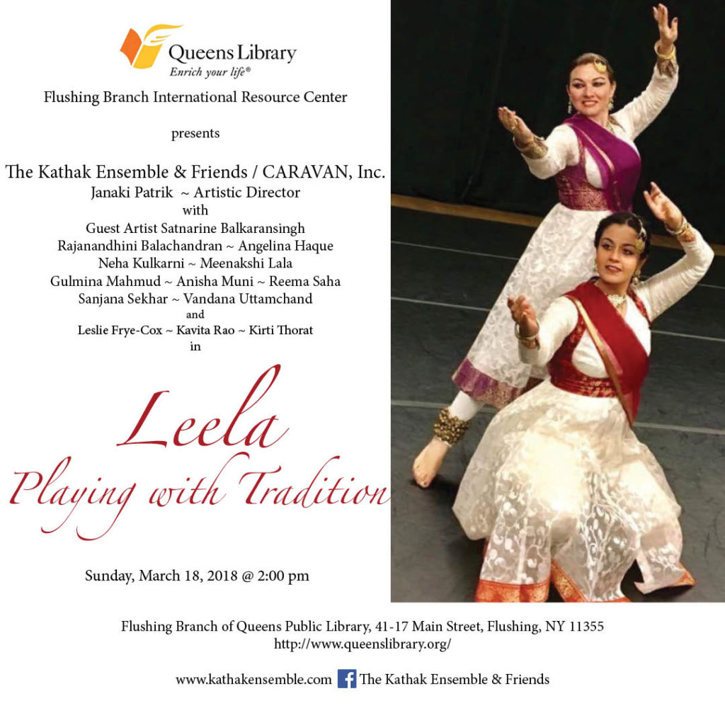 2018 Flushing Library Performance: Leela - Playing with Tradition